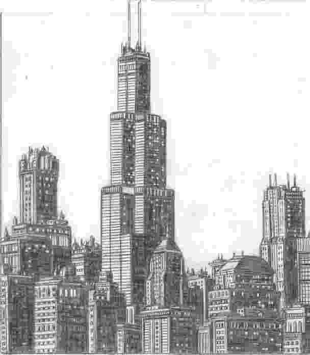 chicago skyline sketch chicago skyline jjcd collaborations jefferyjcom skyline chicago sketch