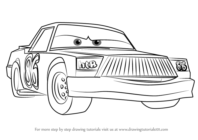 chick hicks coloring page racing between chick hicks and the king coloring pages page chick coloring hicks