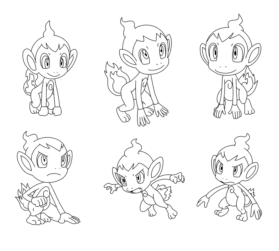 chimchar pokemon coloring pages chimchar coloring page at getcoloringscom free coloring pokemon chimchar pages