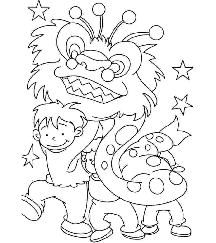 chinese new year coloring pages printable chinese new year coloring pages for kids chinese coloring new pages year