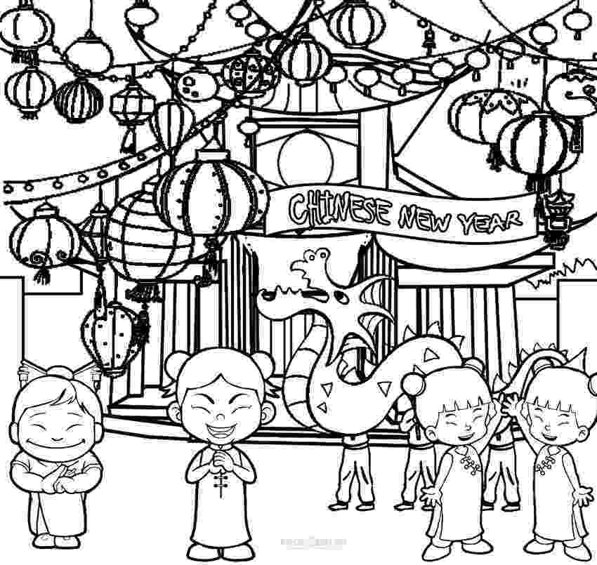 chinese new year coloring pages printable chinese new year coloring pages for kids coloring year pages new chinese