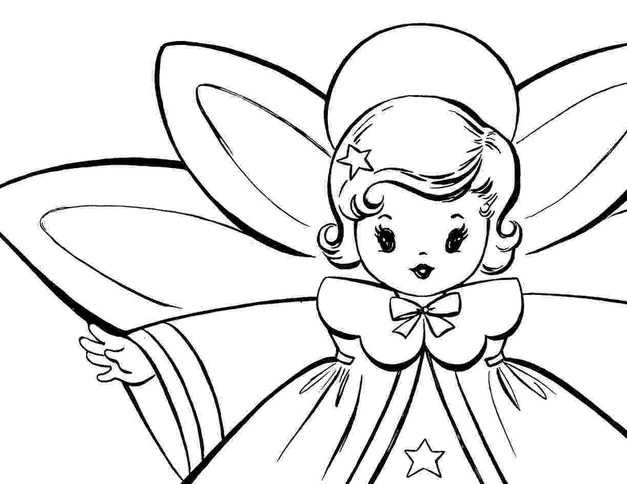 christmas angel coloring pages free christmas coloring pages retro angels the angel christmas pages coloring