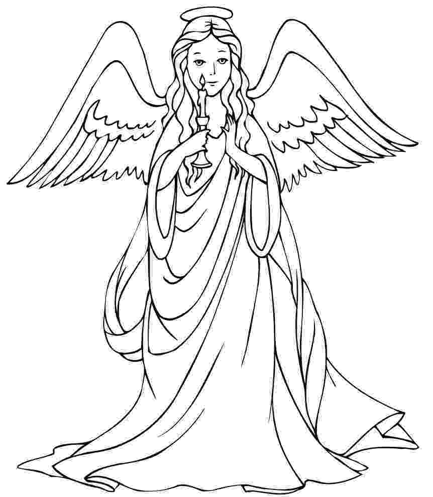 christmas angel coloring pages free christmas coloring pages retro angels the angel coloring christmas pages
