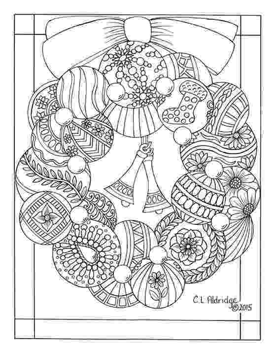 christmas baubles colouring pages christmas bauble wreath colouring page adult colouring christmas baubles colouring pages
