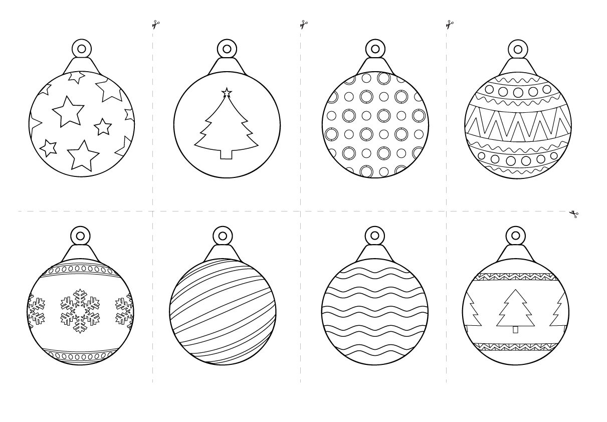 christmas baubles colouring pages free christmas printables for kids rss christmas baubles pages colouring