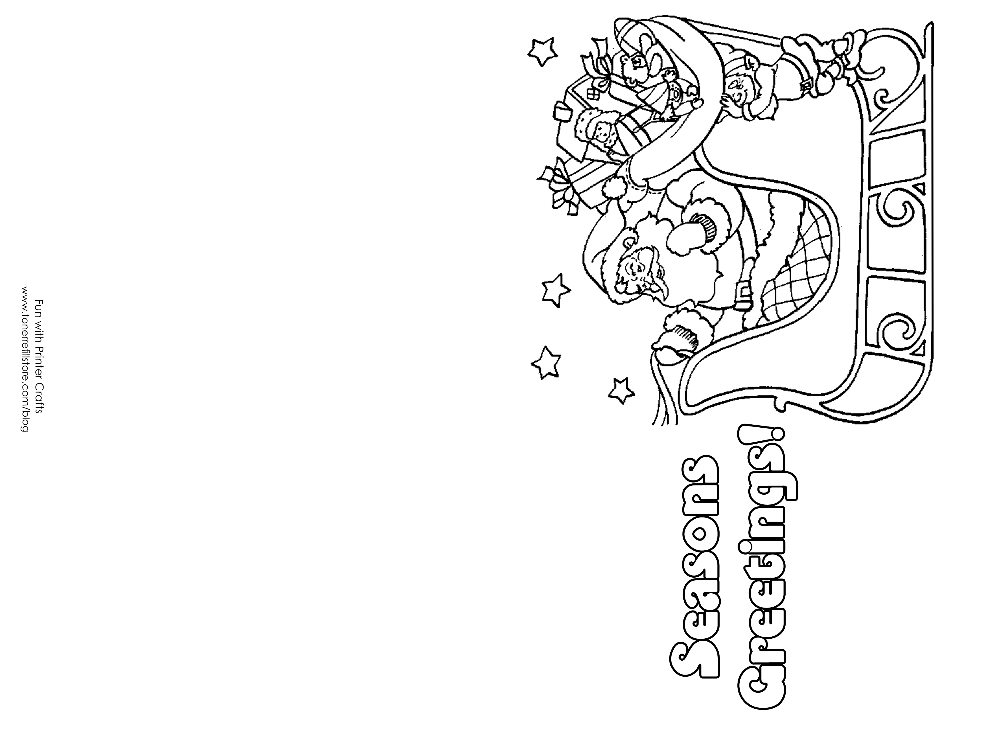 christmas card coloring color your own christmas cards english esl worksheets coloring christmas card