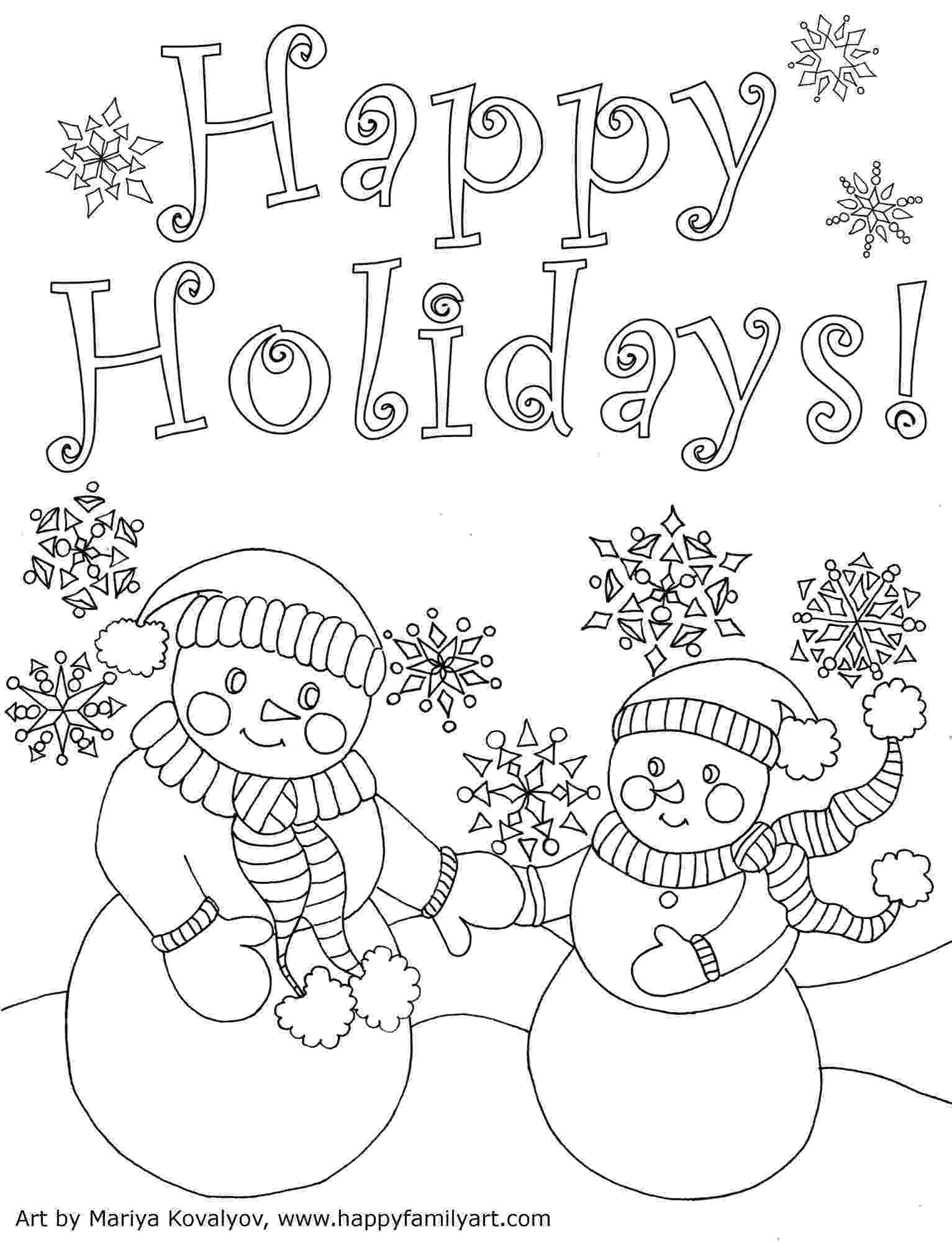 christmas card coloring happy family art original and fun coloring pages card christmas coloring