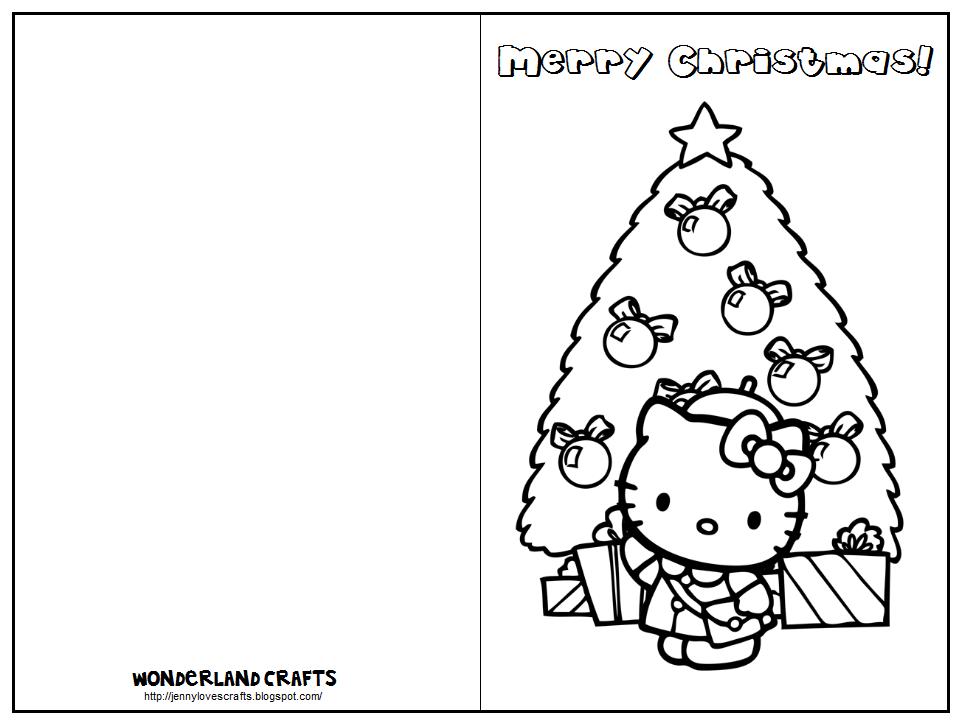 christmas card coloring wonderland crafts kids card christmas coloring