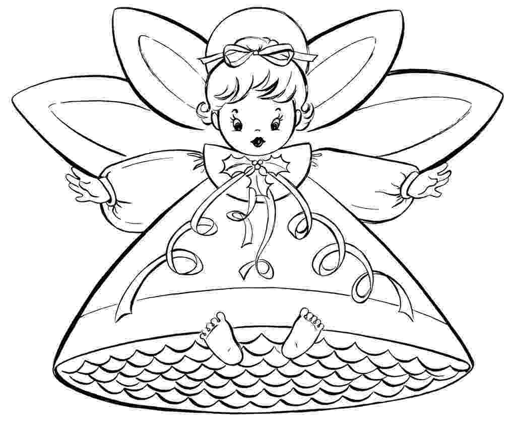 christmas coloring pages to print free free christmas coloring pages retro angels the pages print coloring christmas free to