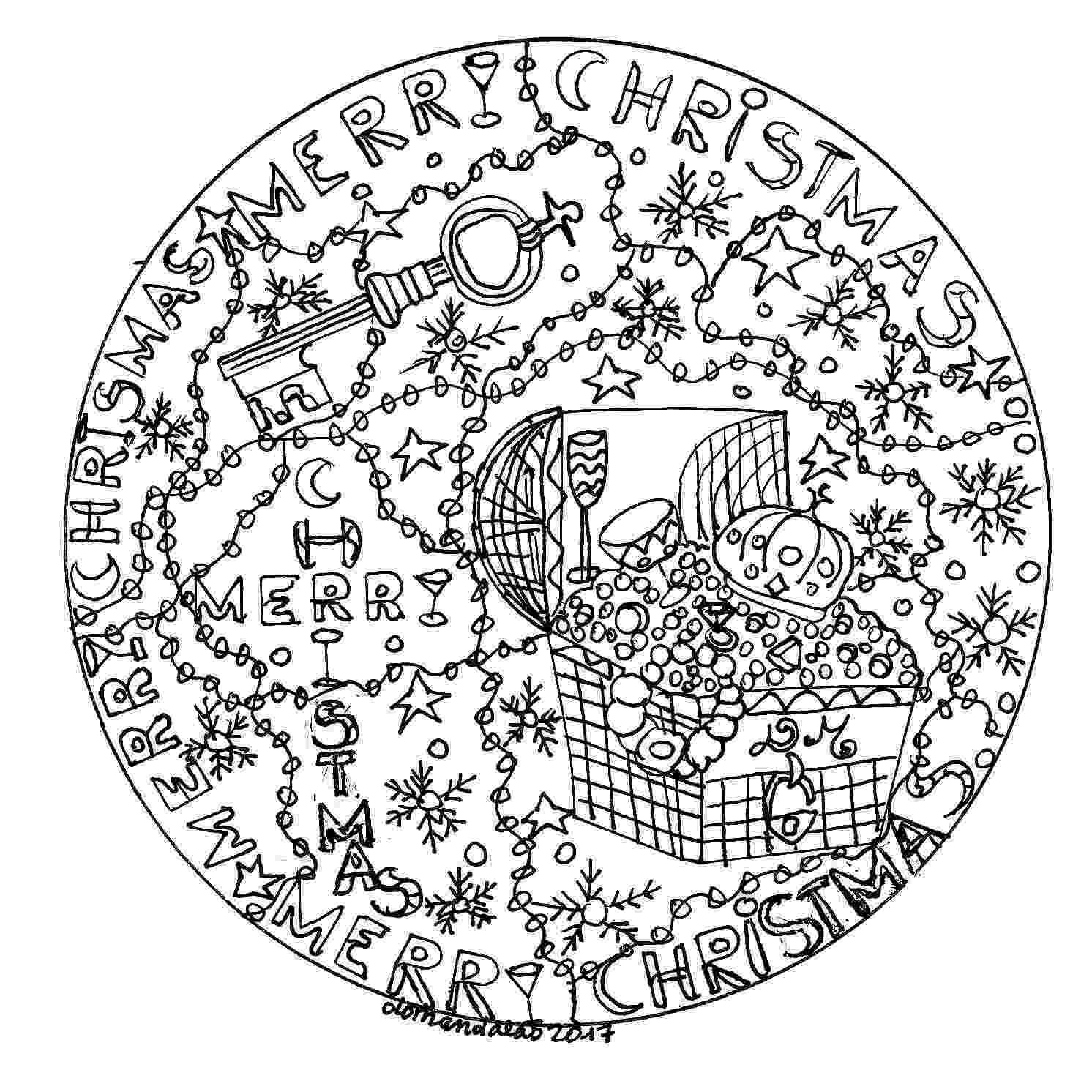 christmas mandalas christmas bauble mandala adult coloring page favecraftscom mandalas christmas