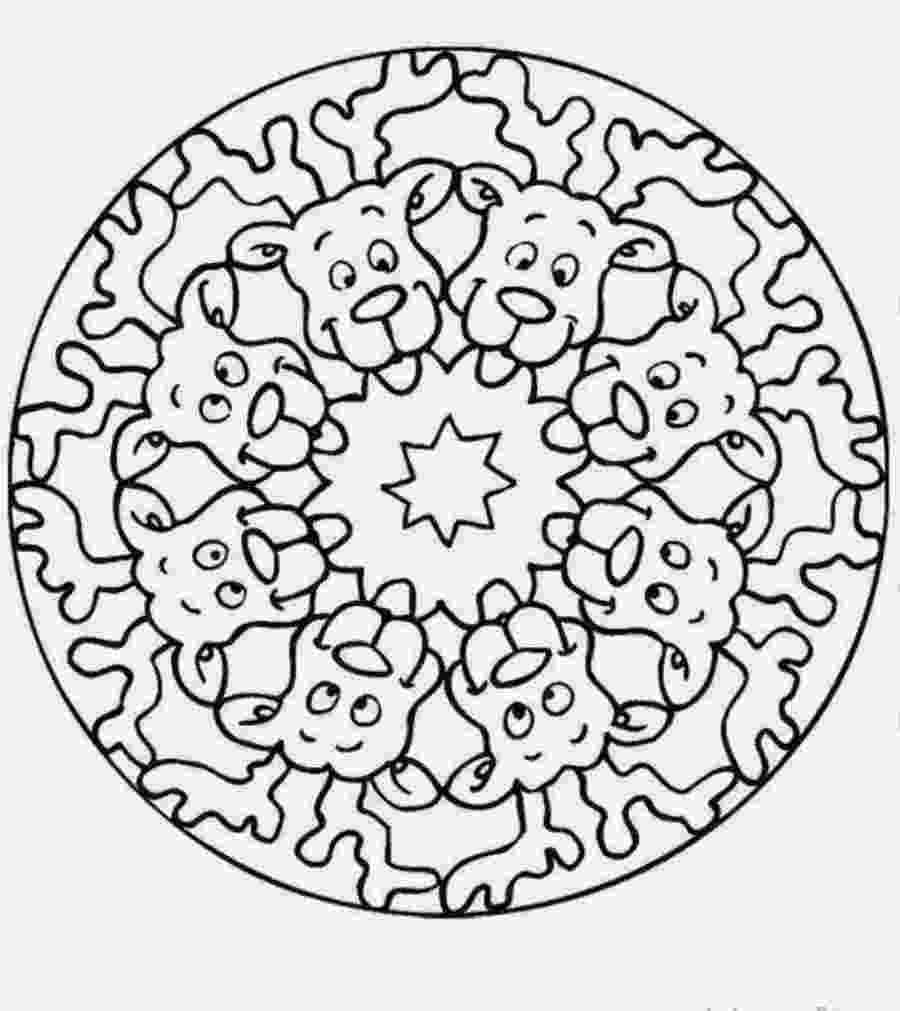 christmas mandalas christmas mandala with baubles coloring page free christmas mandalas