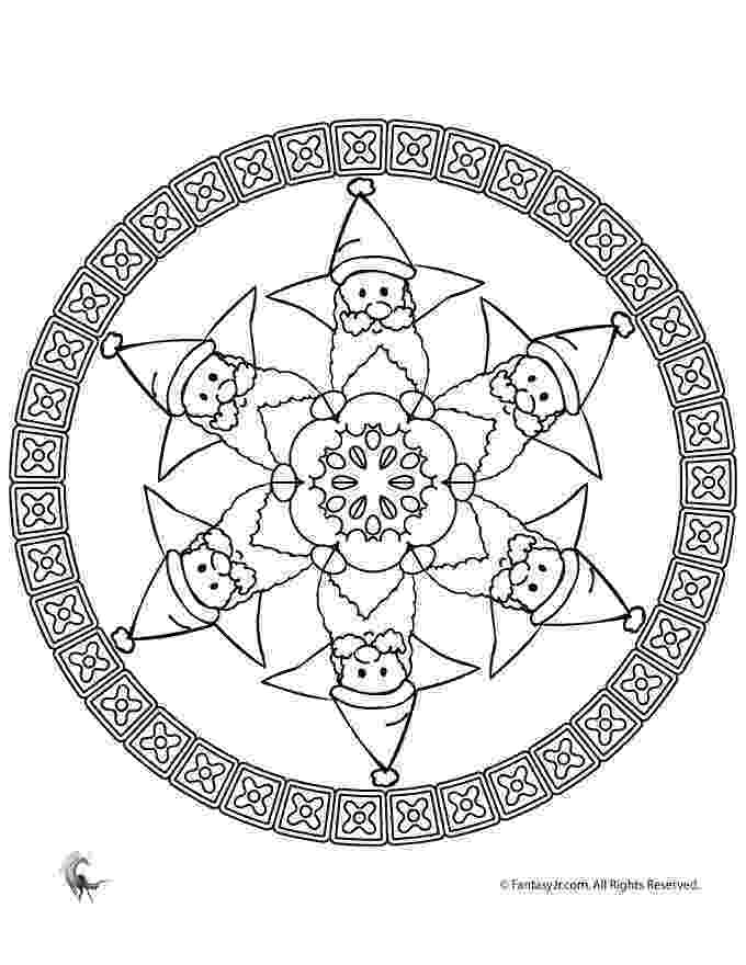 christmas mandalas christmas mandala with birds and snowflake coloring page christmas mandalas