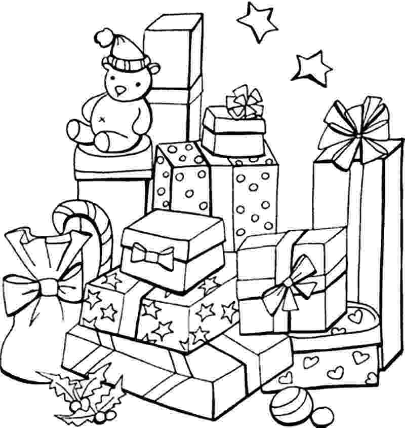 christmas presents coloring pages christmas coloring pages to print free presents christmas coloring pages