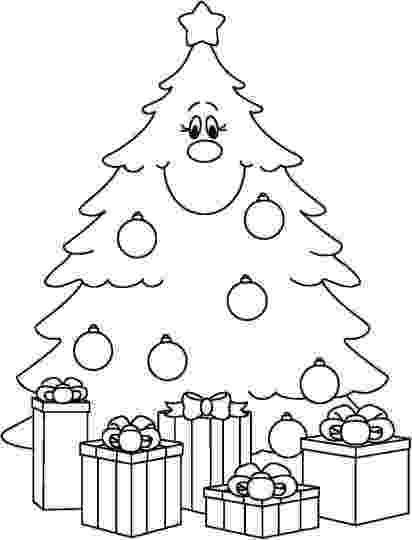 christmas tree pictures coloring pages christmas tree with presents coloring page part 3 christmas tree coloring pages pictures