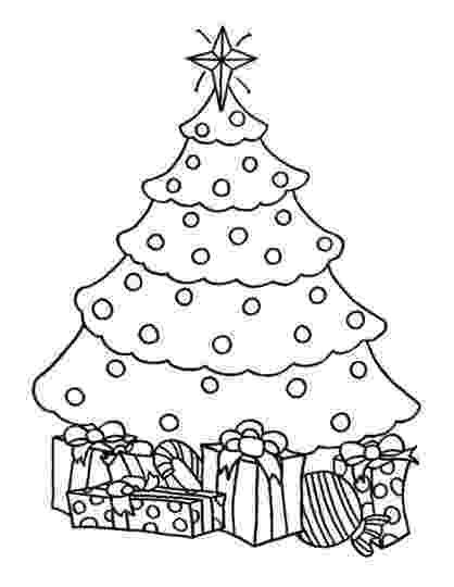 christmas tree pictures coloring pages christmas tree with presents coloring page part 7 free pages coloring tree pictures christmas