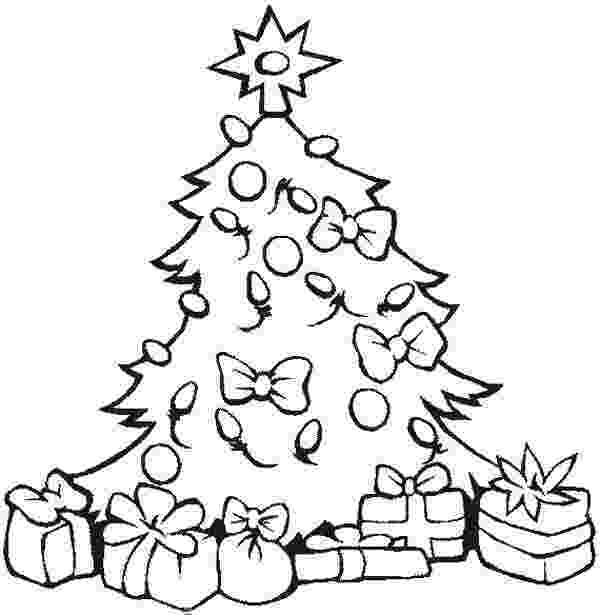 christmas tree pictures coloring pages lovely christmas tree with all the ornaments and presents christmas coloring pictures pages tree