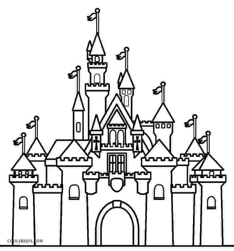 cinderella castle coloring pages printable castle coloring pages for kids cool2bkids pages castle coloring cinderella