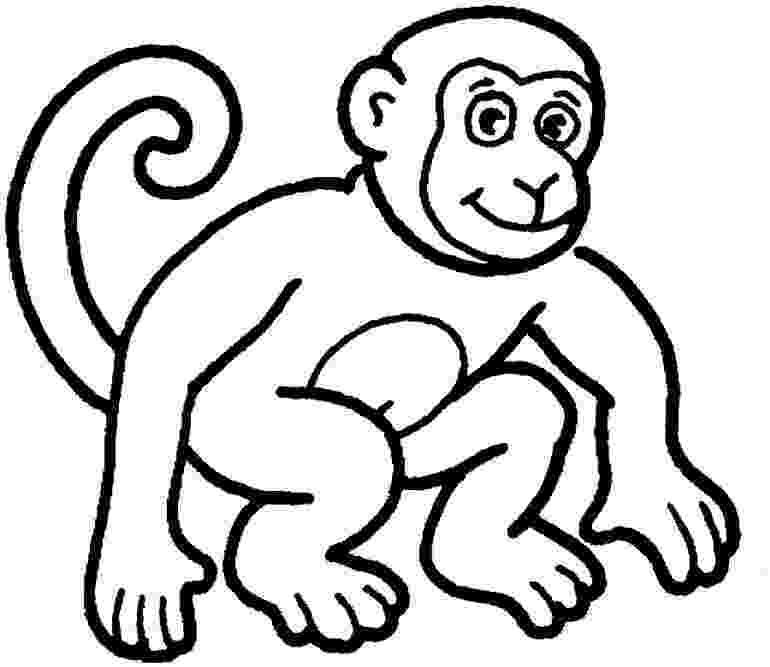 coloring animals monkey free printable monkey coloring page with images monkey animals coloring monkey