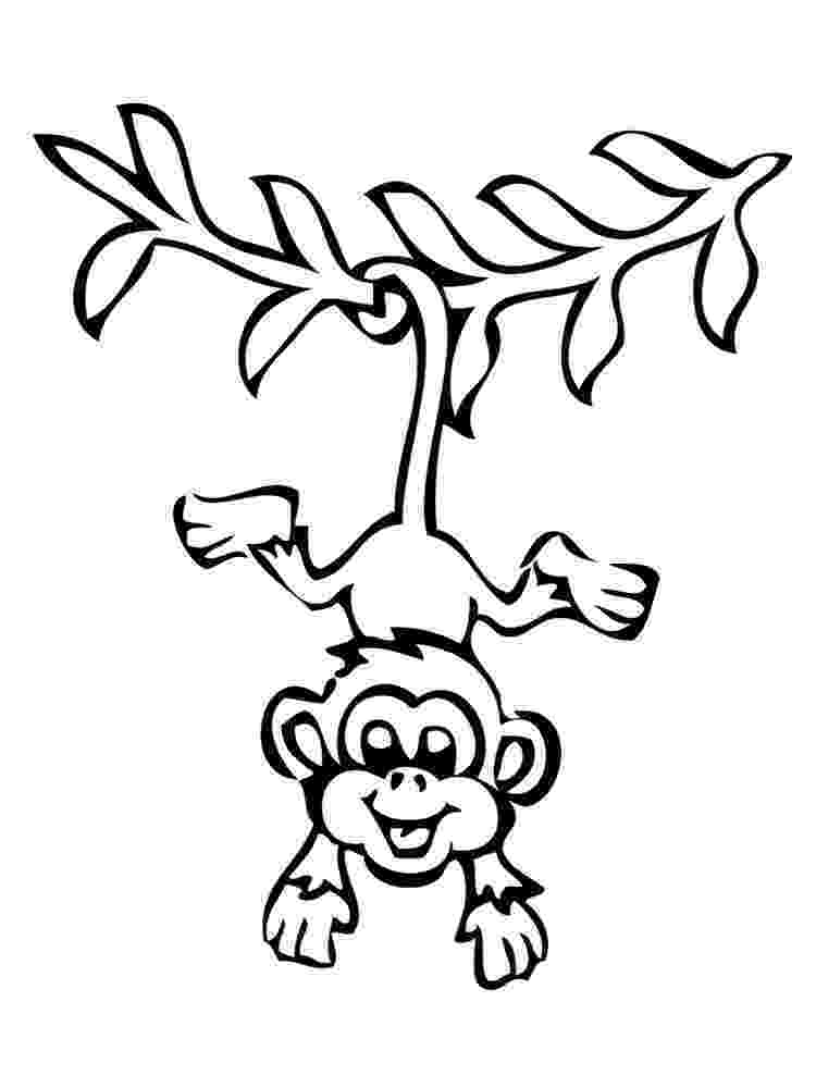 coloring animals monkey free printable monkey coloring pages for kids cool2bkids monkey coloring animals
