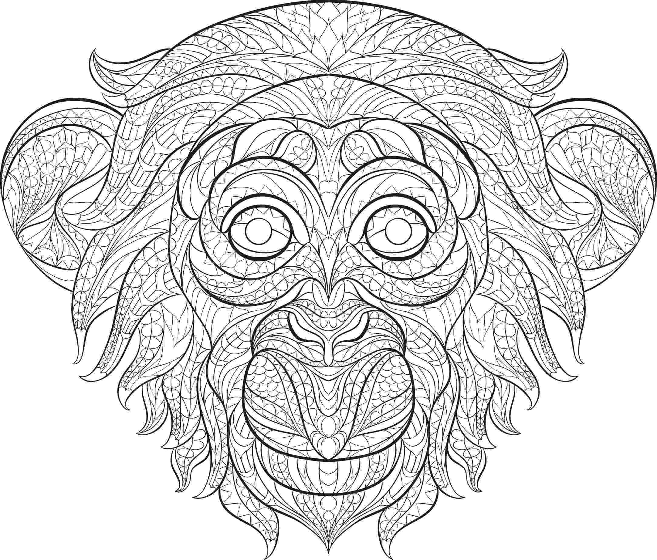 coloring animals monkey free printable monkey coloring pages for kids monkey animals coloring