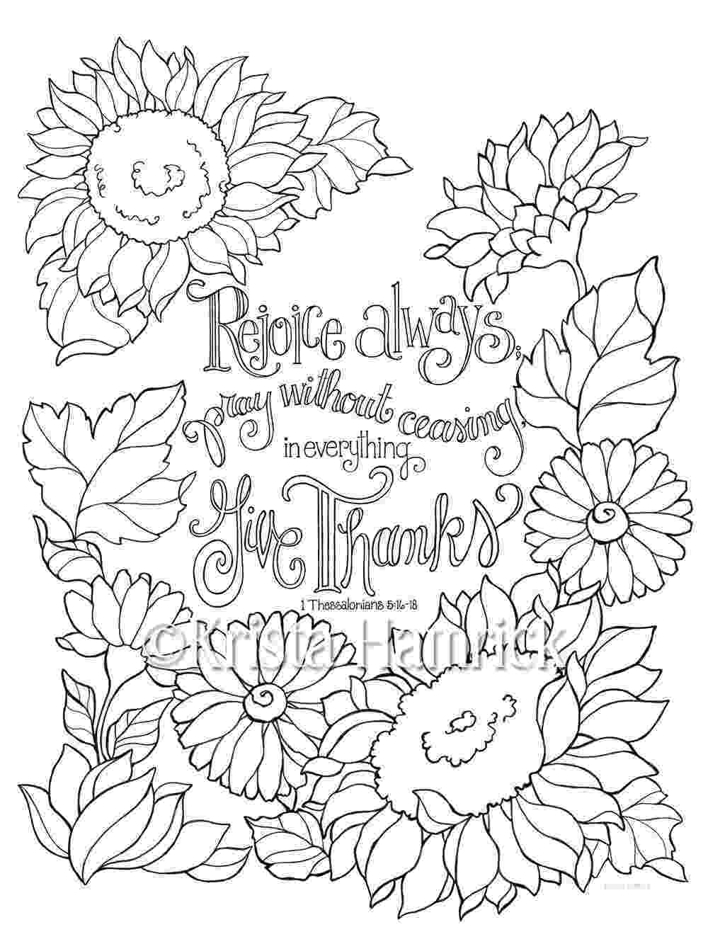 coloring bible rejoice always coloring page in two sizes 85x11 and bible coloring bible