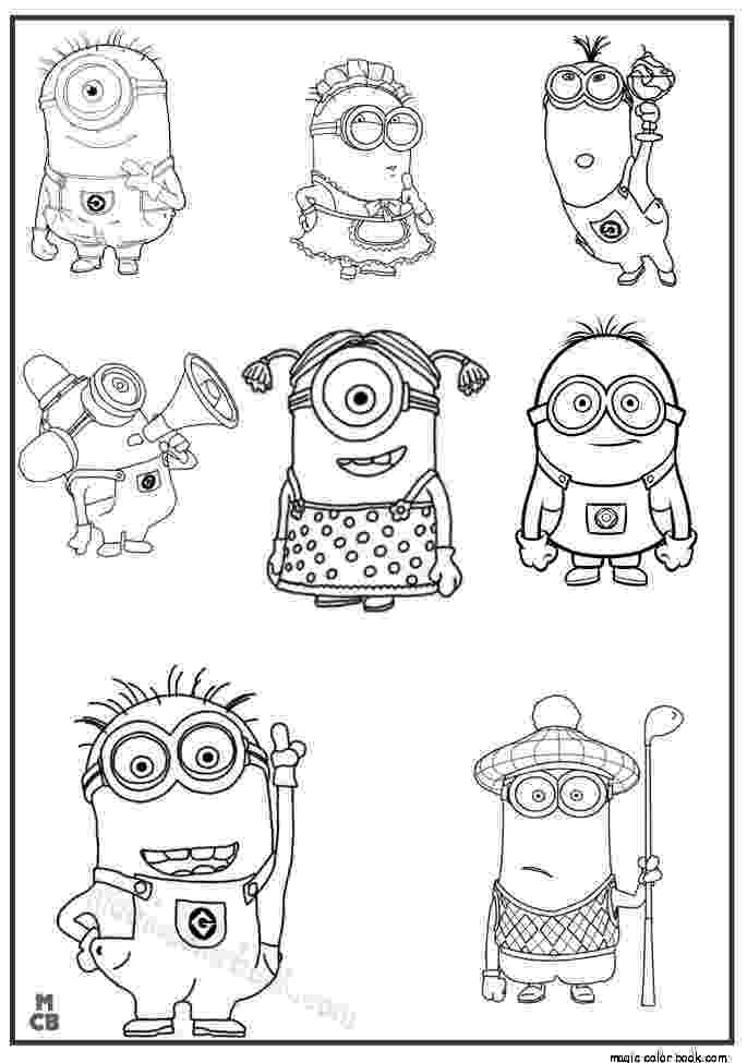 coloring book pages minions 27 best minions coloring pages free images on pinterest minions pages book coloring