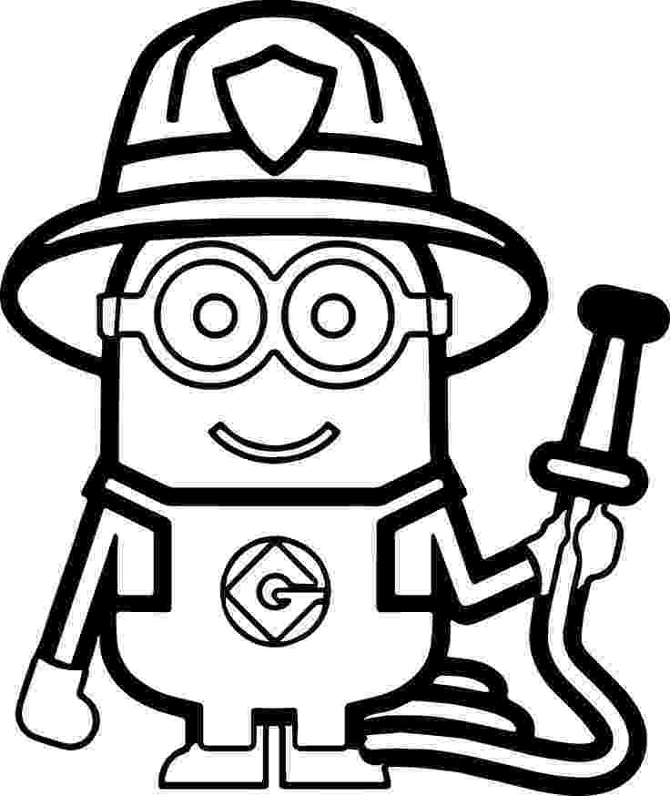 coloring book pages minions minions fireman coloring page more pins like this one at book coloring minions pages