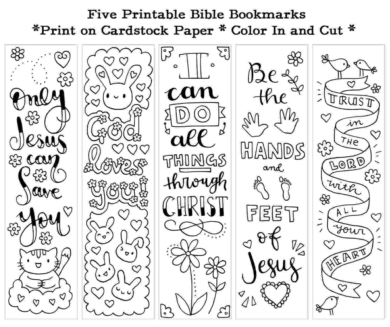 coloring bookmarks thats printable five instant printable color in cute bible bookmarks by susyan bookmarks coloring thats printable