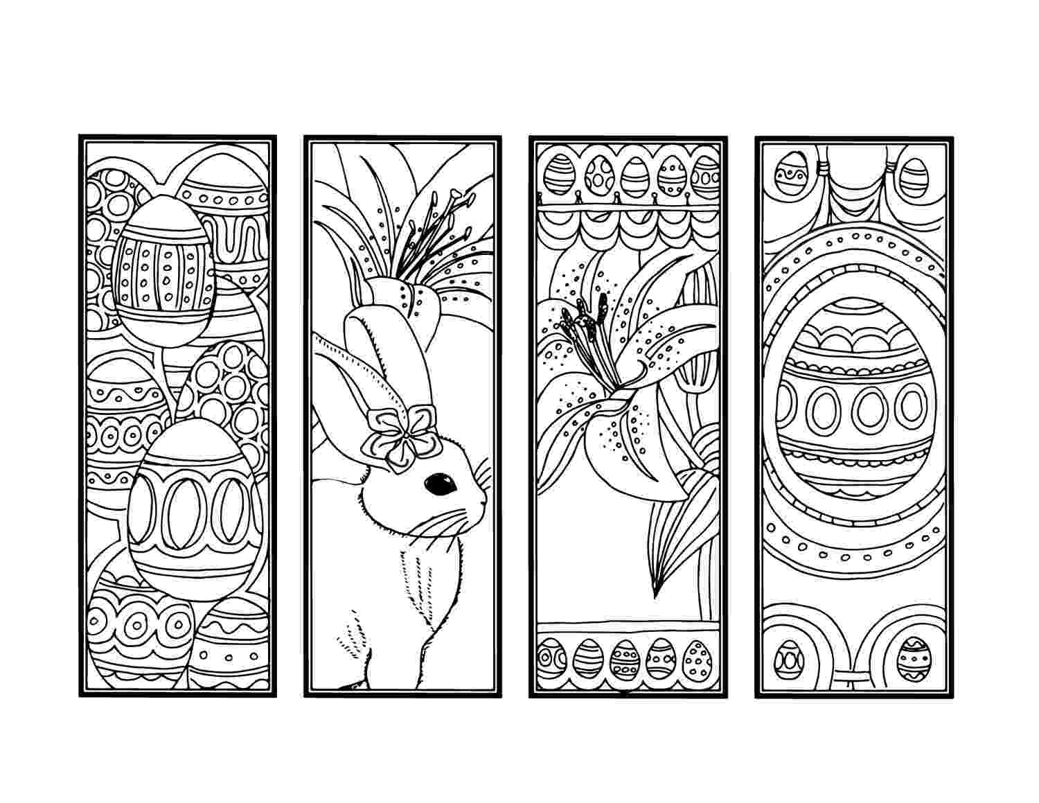 coloring easter bookmarks 65 fun blank bookmarks to color for you kittybabylovecom bookmarks easter coloring