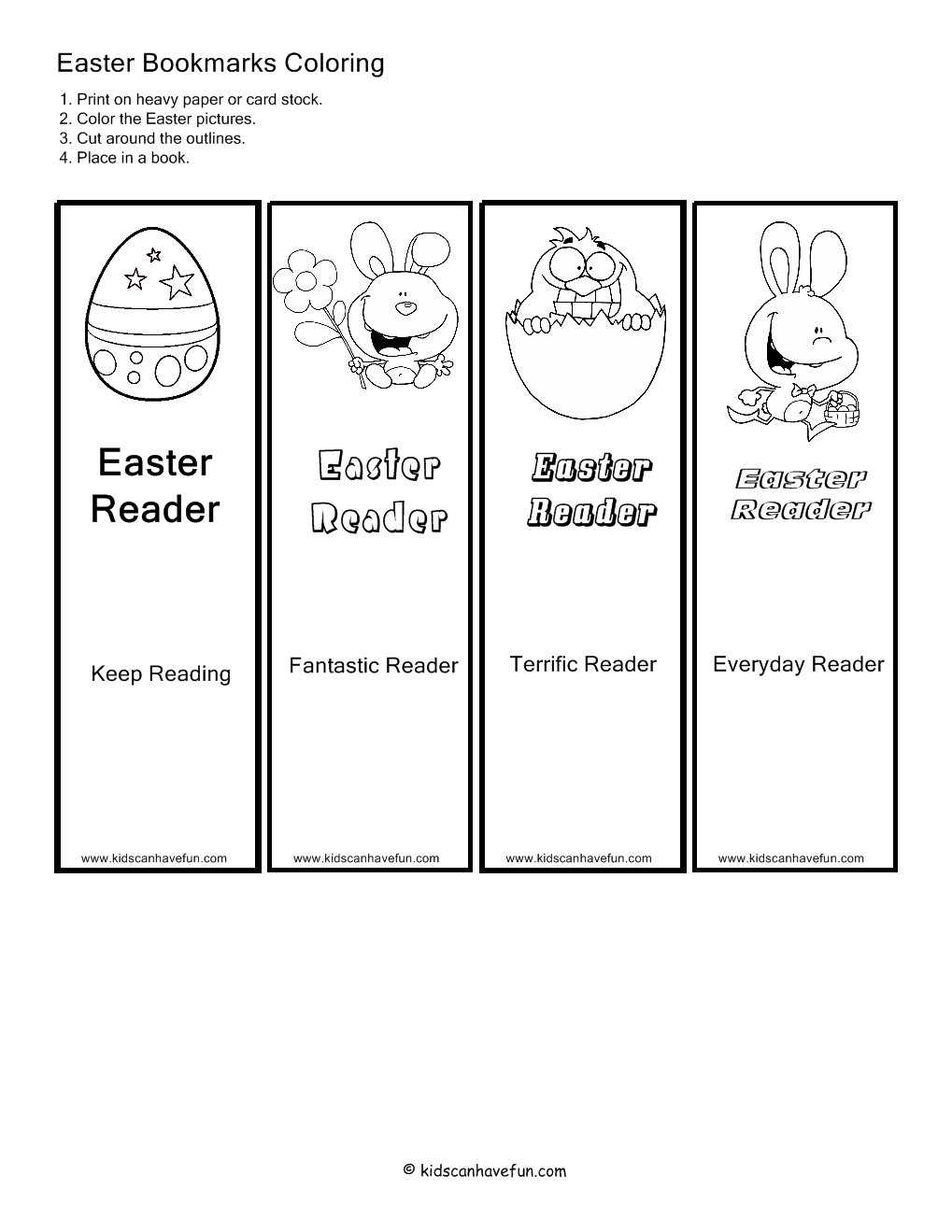 coloring easter bookmarks a printable to color this easter stephanie corfee bookmarks easter coloring