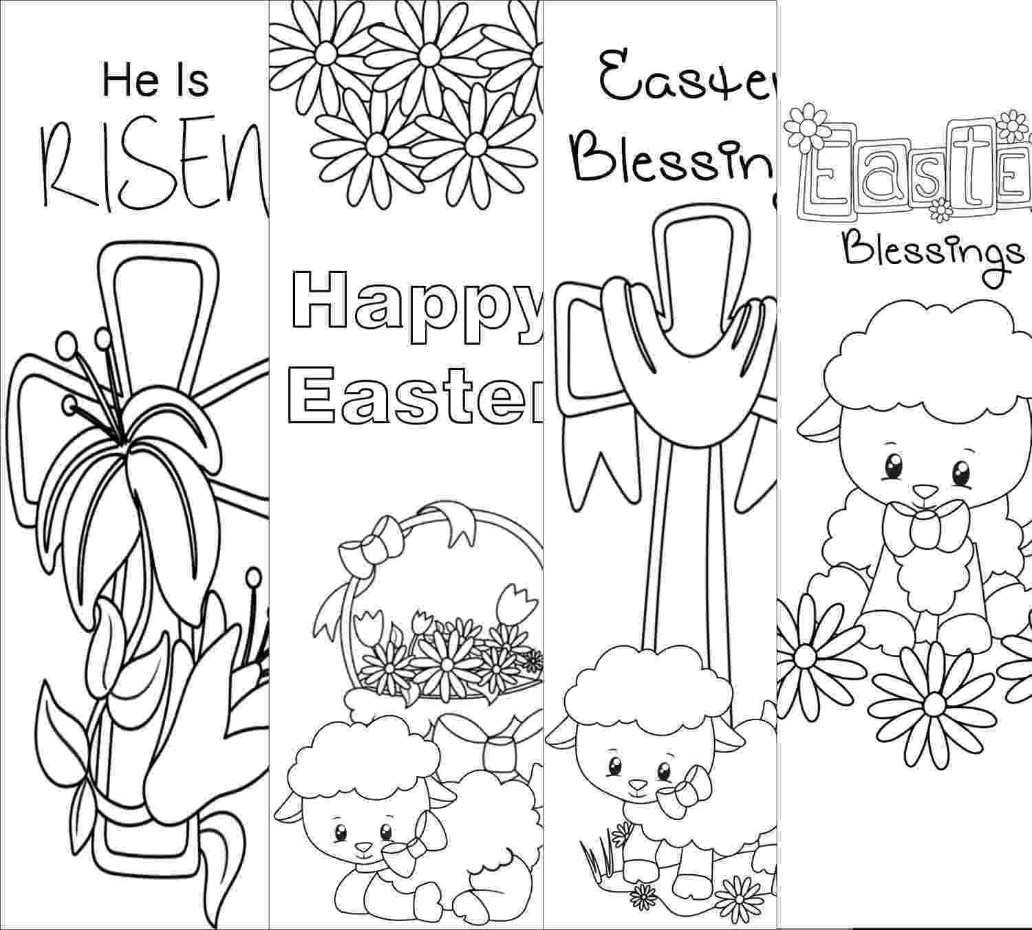 coloring easter bookmarks bookmark printable images gallery category page 7 bookmarks coloring easter
