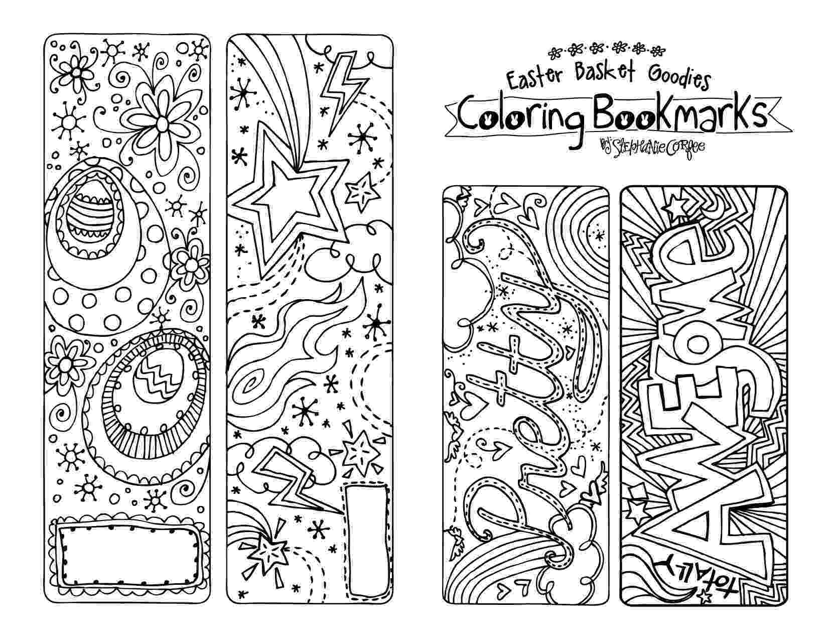 coloring easter bookmarks bookmarks to color easter by lisasmendoza teachers pay coloring easter bookmarks