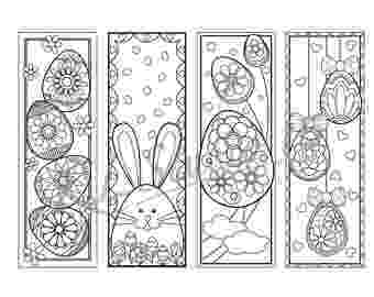 coloring easter bookmarks free easter bookmarks to color by little library of bookmarks coloring easter