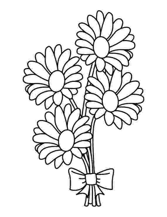 coloring flowers daisy bouquet coloring page coloring flowers