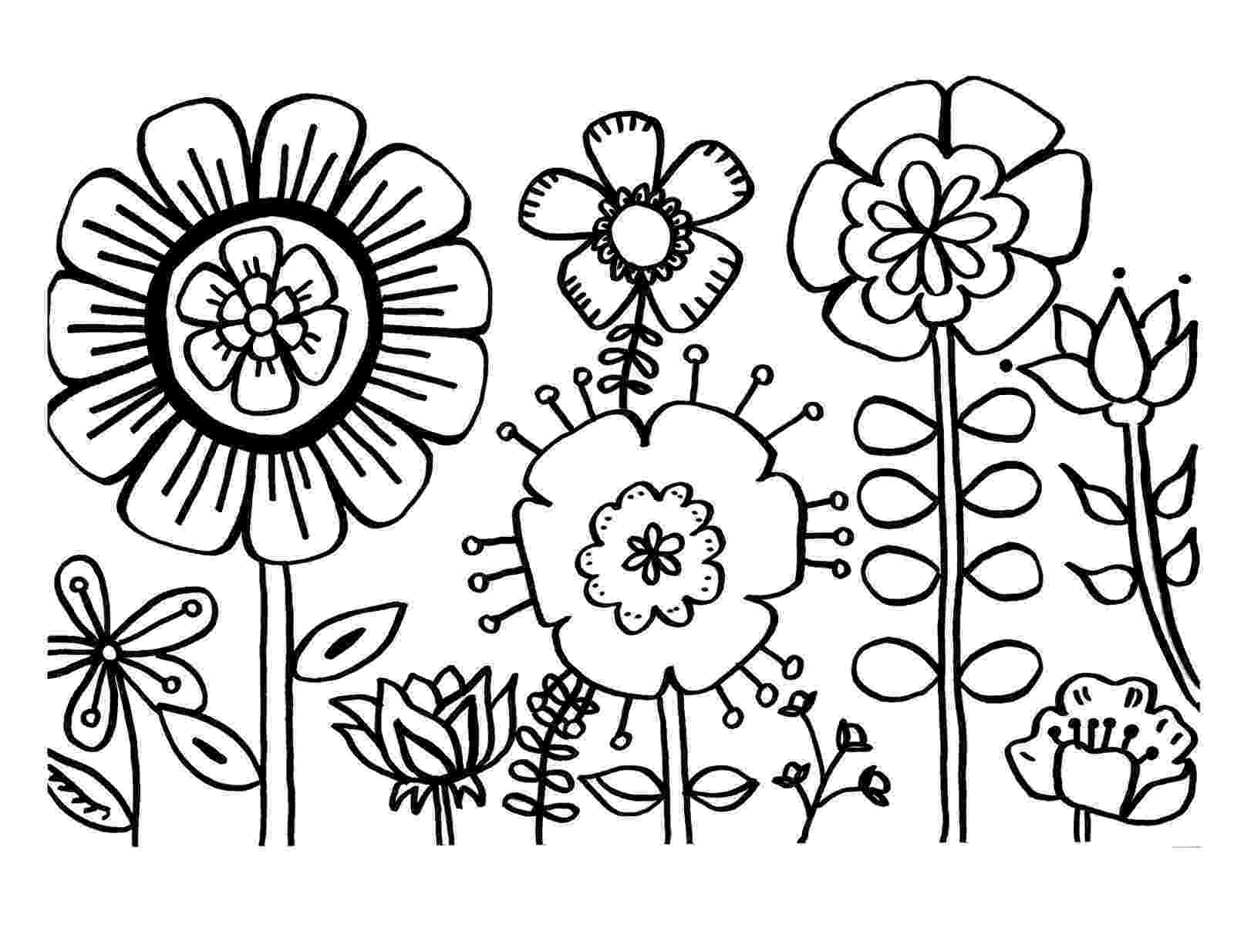 coloring flowers spring flowers coloring page free printable coloring pages coloring flowers