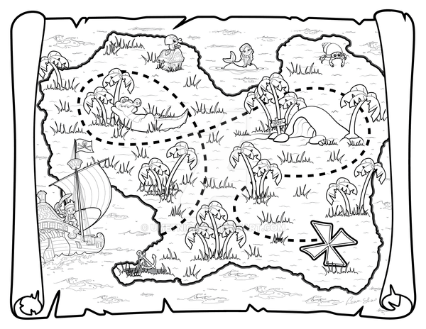 coloring map pirate map by umetnica on deviantart map coloring