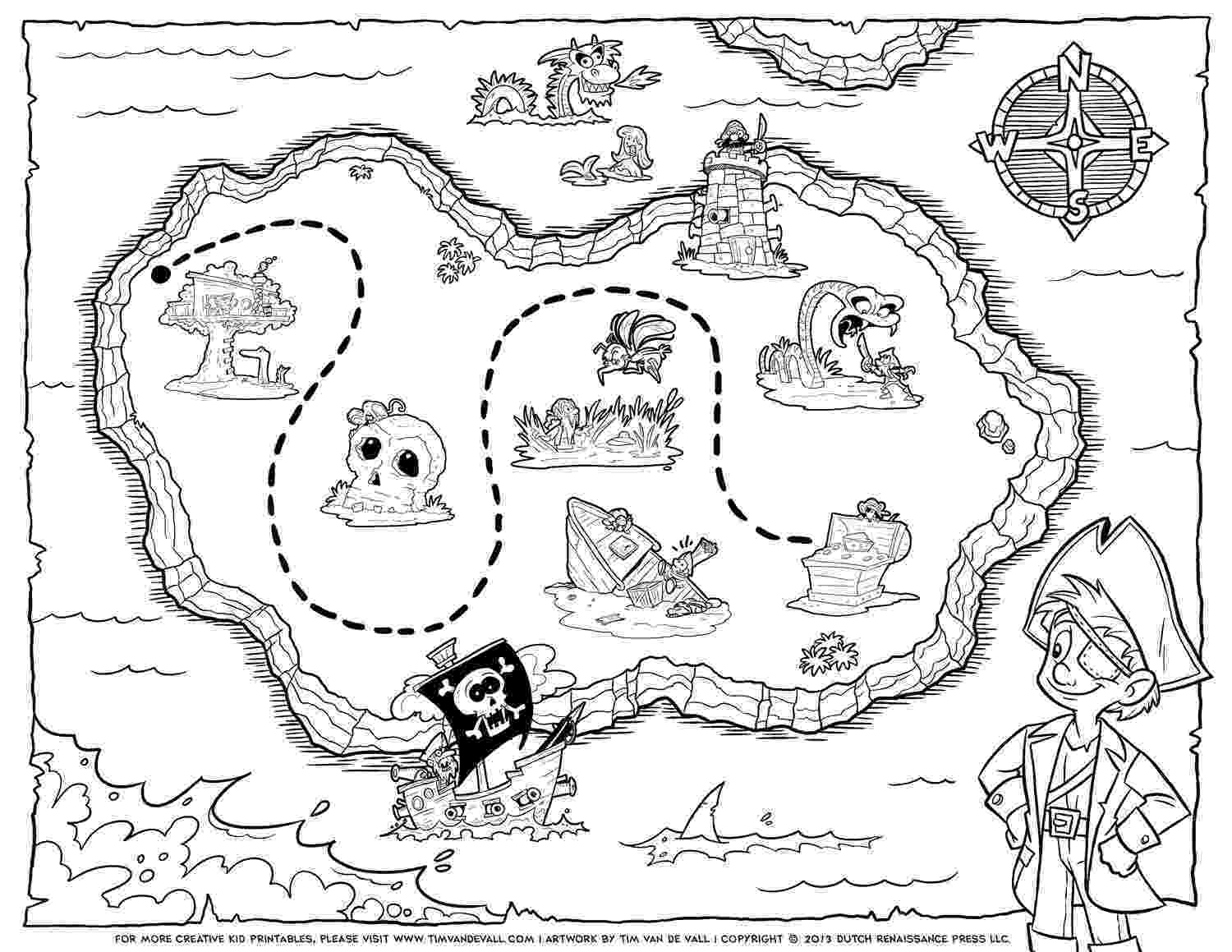 coloring map printable treasure map kids activity map coloring
