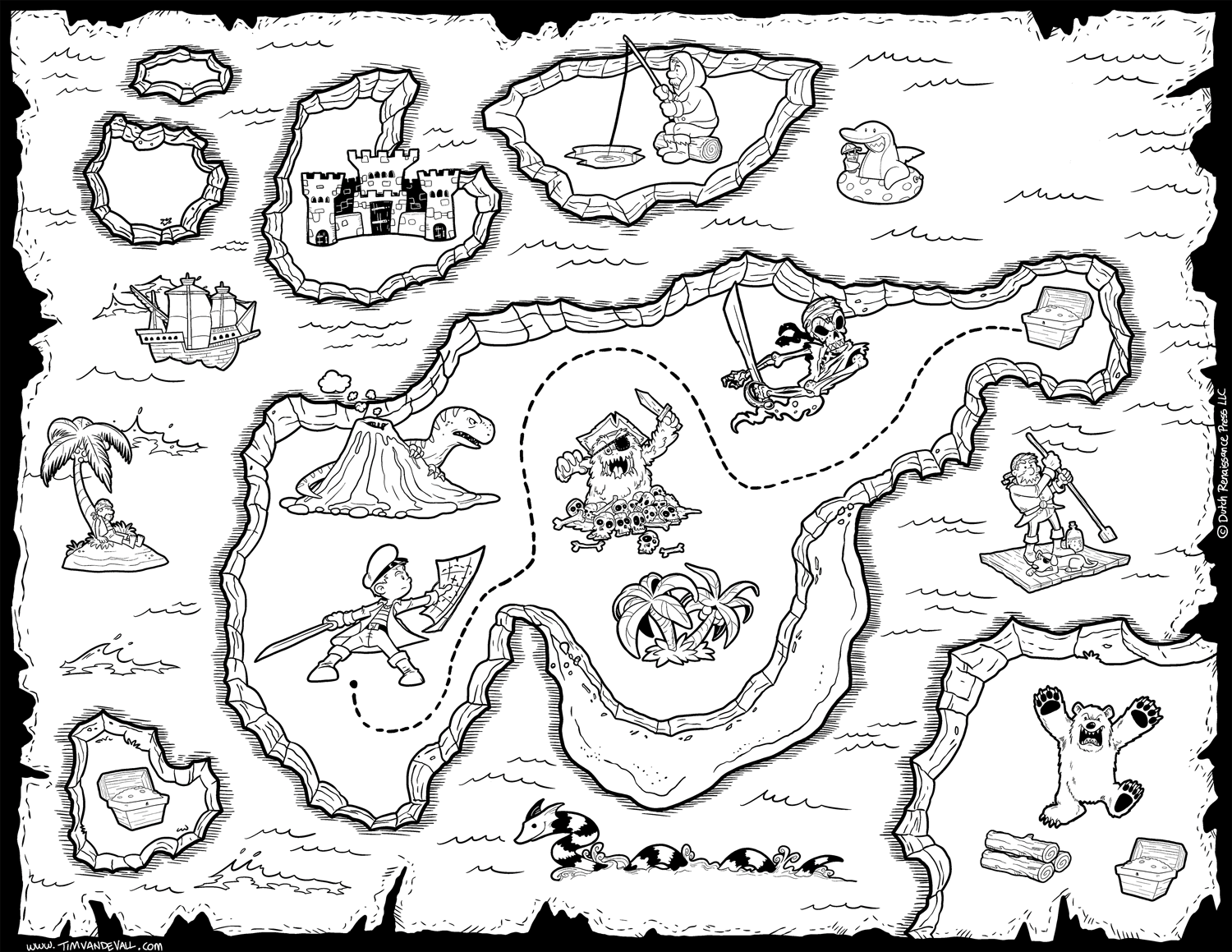 coloring map treasure map coloring pages to download and print for free map coloring
