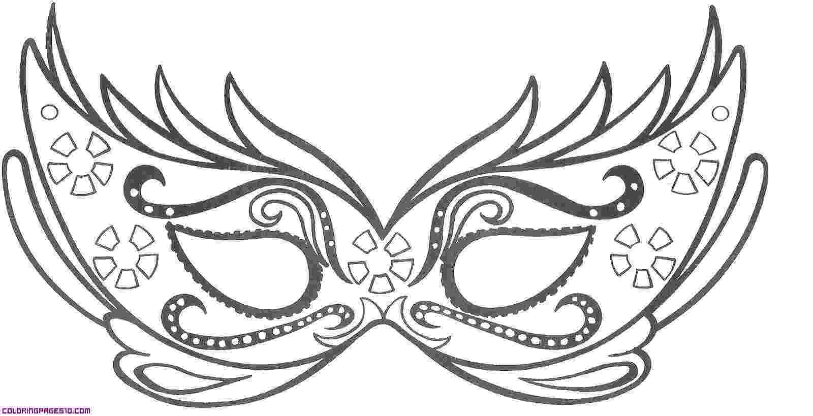 coloring masks a mask for carnival coloring pages masks coloring
