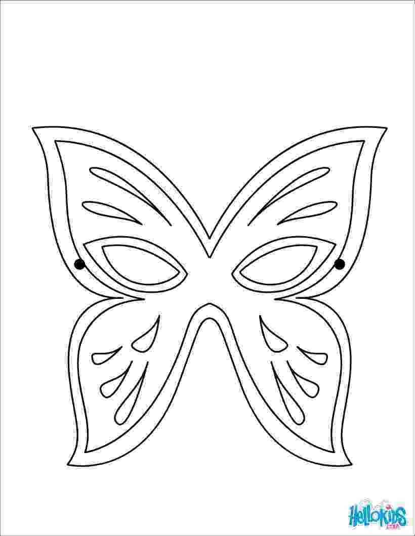 coloring masks butterfly mask coloring pages hellokidscom coloring masks