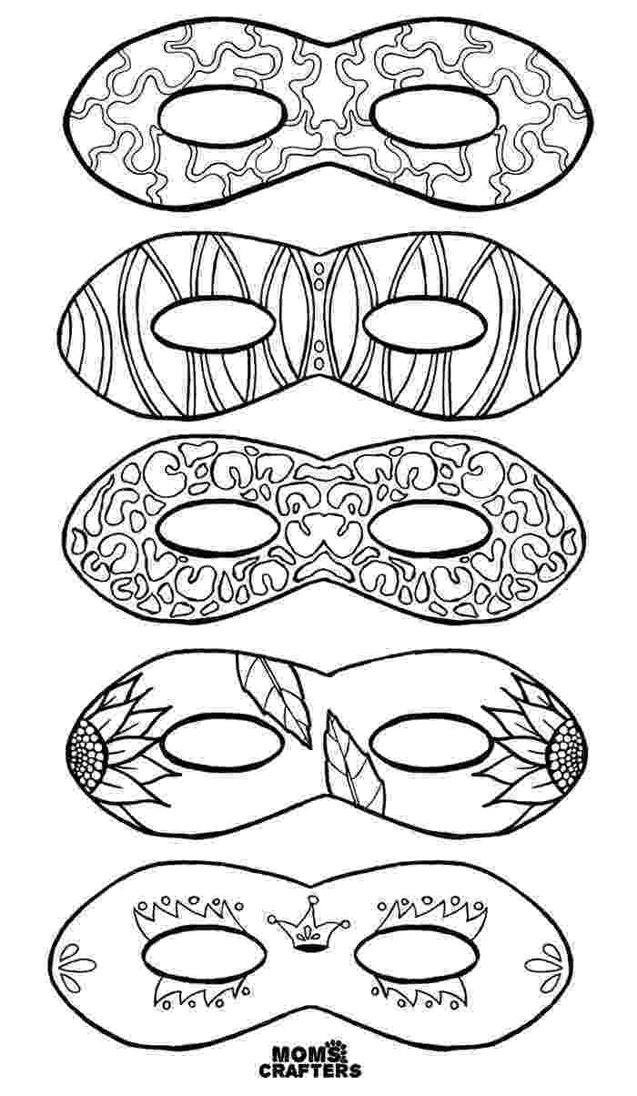 coloring masks color in masks free printable coloring for adults and kids masks coloring