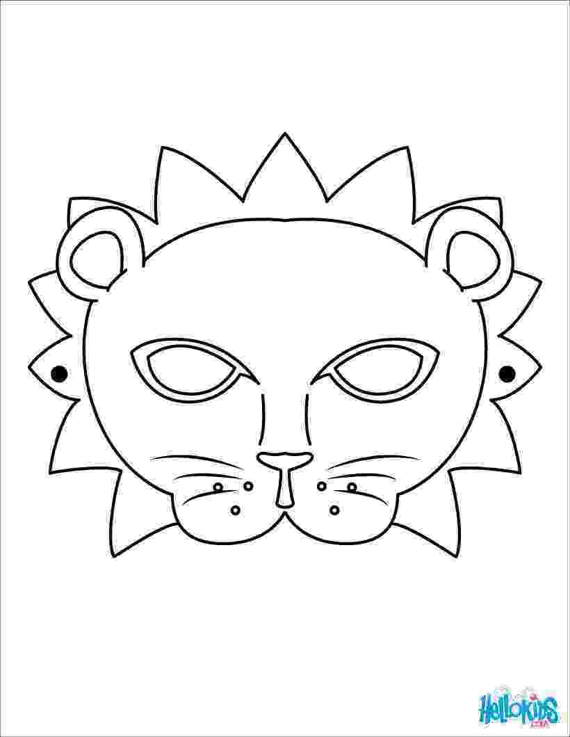 coloring masks lion mask coloring pages hellokidscom coloring masks