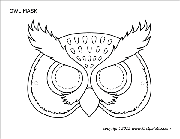 coloring masks owl mask free printable templates coloring pages masks coloring