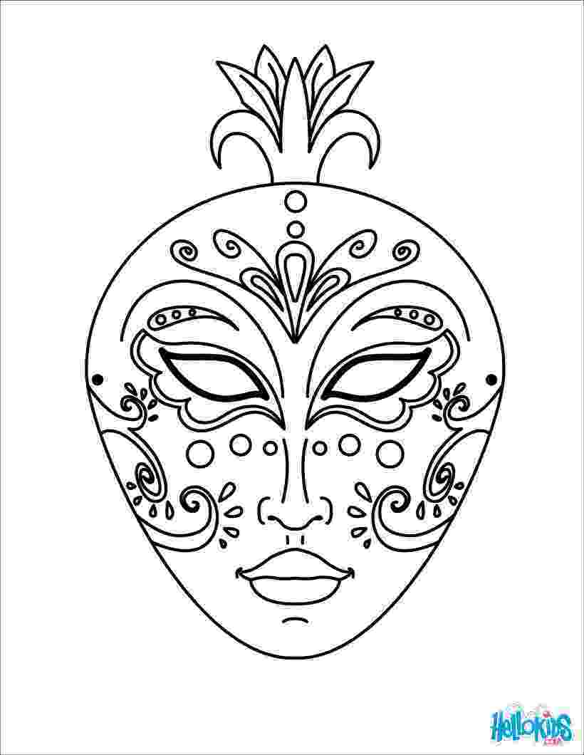 coloring masks venice mask coloring pages hellokidscom masks coloring