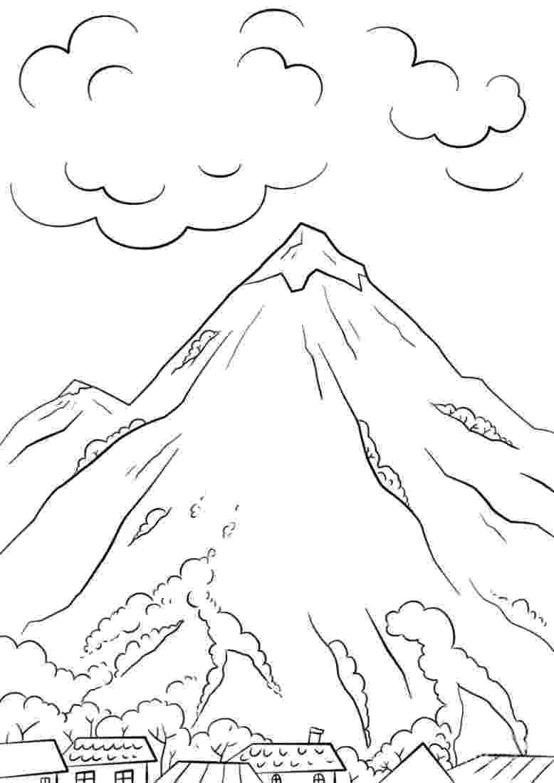 coloring mountain mountain pictures mountains coloring page coloring mountain