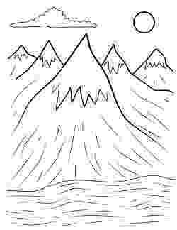 coloring mountain mountain pictures mountains coloring page coloring mountain 1 1
