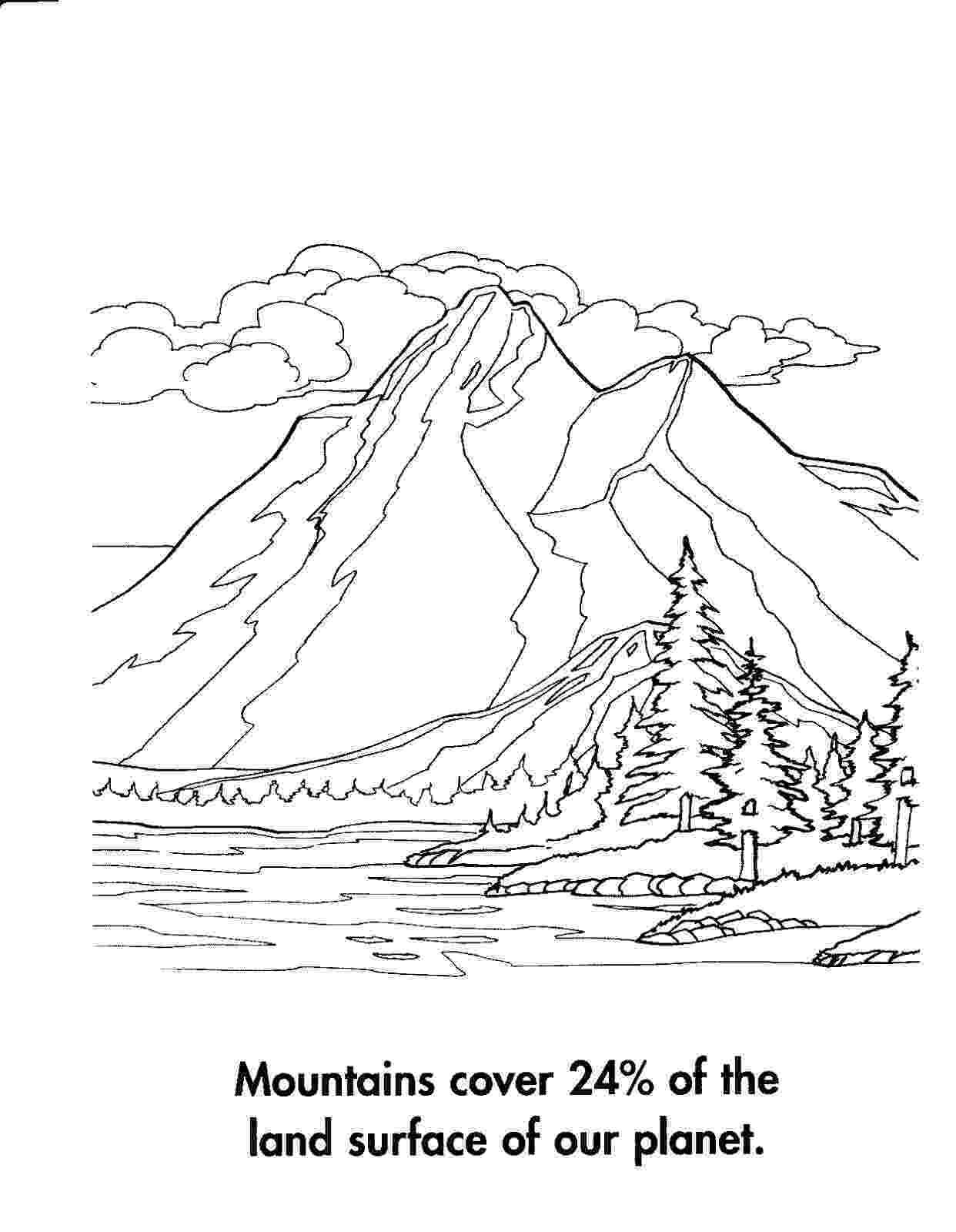 coloring mountain mountain pictures mountains coloring page mountain coloring