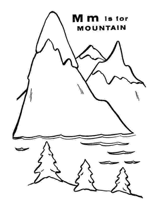 coloring mountain printable mountain coloring pages online printable coloring mountain