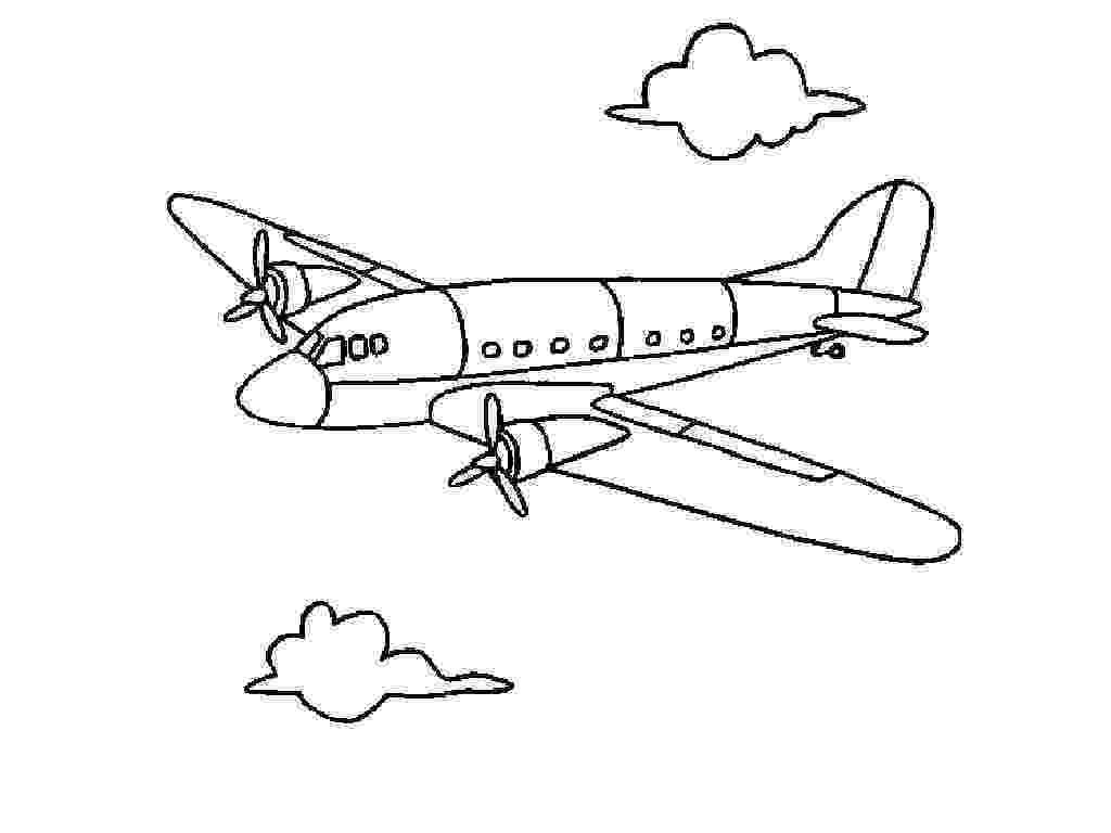 coloring page airplane free printable airplane coloring pages for kids cool2bkids coloring airplane page 1 1