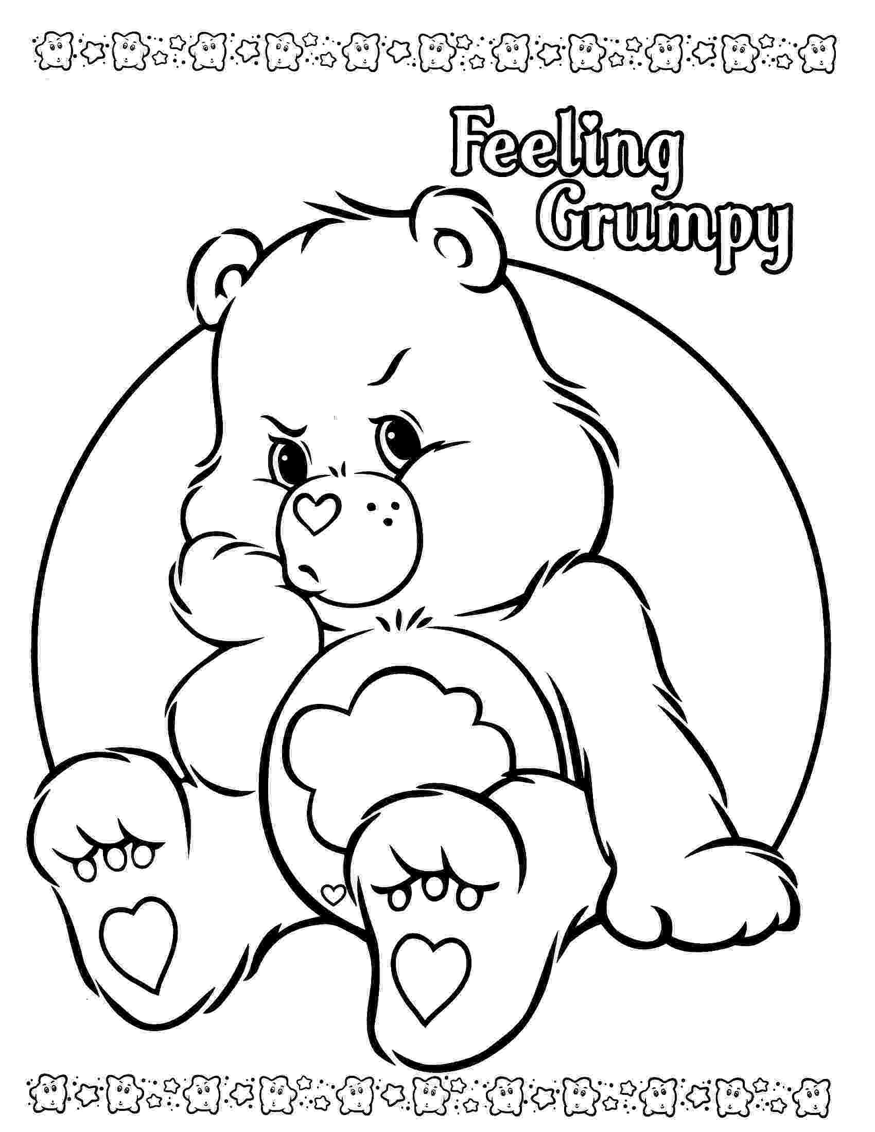 coloring page bear care bear coloring pages to download and print for free bear coloring page